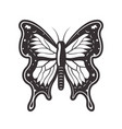 butterfly tattoo style black vector image