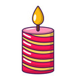 candle holiday icon cartoon style vector image vector image