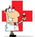 Cartoon dentist vector image vector image