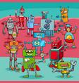 cartoon robot fantasy characters vector image vector image