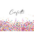 celebration confetti background vector image vector image