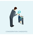 Choosing A Candidate Concept vector image vector image