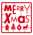 Christmas card Typography and icons christmas ki vector image