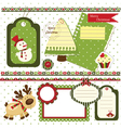 Christmas scrapbook set 2 vector image vector image