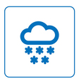 Cloud snow icon cartoon vector image vector image