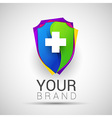 Colorful Medical Secure Logo Creative abstract vector image