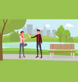 couple on romantic date flat vector image vector image