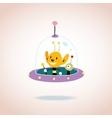 cute alien characters vector image vector image