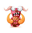 cute funny crazy monster play vector image