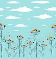 cute summer floral seamless strip vector image