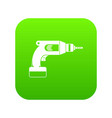 drill icon digital green vector image