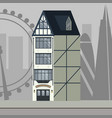 english traditional pub with london skyline vector image vector image