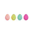 flat easter decorated eggs set vector image vector image