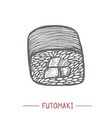 futomaki sushi in hand drawn style vector image vector image
