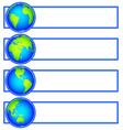 globes banner set vector image vector image