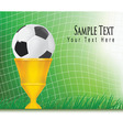 green football background vector image vector image