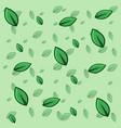 green leaf pattern background vector image