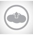 Grey cloud upload sign icon vector image vector image
