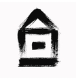 Grunge Brush House vector image vector image