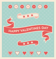 happy valentines day design elements background vector image