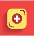 health help icon flat design vector image