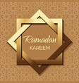 islamic background for ramadan vector image