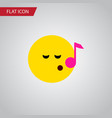 isolated sing flat icon descant element vector image vector image