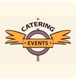 logo restaurant cafe for exclusive events vector image vector image