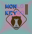 Logotype with head of monkey Baboon Aggressive vector image vector image