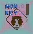 Logotype with head of monkey Baboon Aggressive vector image vector image