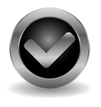 metallic validation button vector image vector image