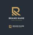minimalist letter r logo design inspiration vector image vector image