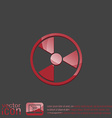 nuclear danger icon vector image