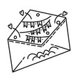 party invitation set icon doodle hand drawn vector image