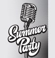 poster template for summer party with vector image vector image