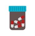 prescription pill medicament vector image vector image
