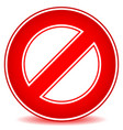 prohibition restriction no entry sign for no vector image vector image