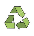 reduce recycle and reuse environment symbol vector image vector image