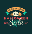 Retro Vintage Happy Halloween Badge Halloween Sale vector image vector image