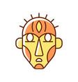 ritual masks rgb color icon vector image