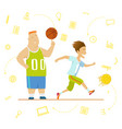 school children sport for kids including football vector image vector image