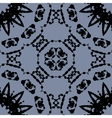 Seamless black on gray pattern made of ink vector image