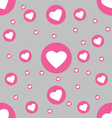 Seamless pattern white hearts in pink circle on vector image vector image