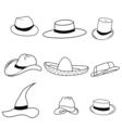 set classic hats vector image vector image