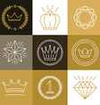 set linear gamification badges vector image vector image