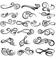 set of elegant decorative filigree elements vector image