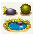 Set of game environment elements vector image