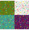 set of seamless simple pattern with vector image vector image