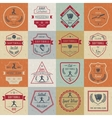 Set Softball Badges and Logos vector image