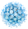 Snowflakes Sphere vector image